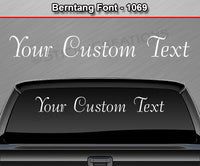"Berntang Font #1069 - Custom Personalized Your Text Letters Windshield Window Vinyl Sticker Decal Graphic Banner 36""x4.25""+"
