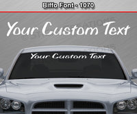 "Biffo Font #1070 - Custom Personalized Your Text Letters Windshield Window Vinyl Sticker Decal Graphic Banner 36""x4.25""+"