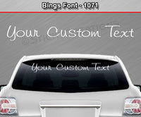 "Bings Font #1071 - Custom Personalized Your Text Letters Windshield Window Vinyl Sticker Decal Graphic Banner 36""x4.25""+"