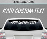 "Bounce Font #1018 - Custom Personalized Your Text Letters Windshield Window Vinyl Sticker Decal Graphic Banner 36""x4.25""+"
