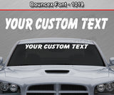 "Bouncex Font #1019 - Custom Personalized Your Text Letters Windshield Window Vinyl Sticker Decal Graphic Banner 36""x4.25""+"