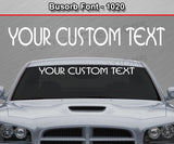 "Busorb Font #1020 - Custom Personalized Your Text Letters Windshield Window Vinyl Sticker Decal Graphic Banner 36""x4.25""+"