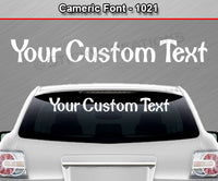 "Cameric Font #1021 - Custom Personalized Your Text Letters Windshield Window Vinyl Sticker Decal Graphic Banner 36""x4.25""+"