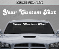 "Candice Font #1074 - Custom Personalized Your Text Letters Windshield Window Vinyl Sticker Decal Graphic Banner 36""x4.25""+"