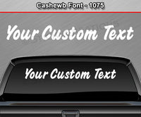 "Cashew B Font #1075 - Custom Personalized Your Text Letters Windshield Window Vinyl Sticker Decal Graphic Banner 36""x4.25""+"