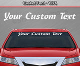 "Casket Font #1076 - Custom Personalized Your Text Letters Windshield Window Vinyl Sticker Decal Graphic Banner 36""x4.25""+"