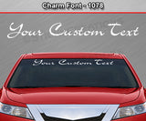 "Charm Font #1078 - Custom Personalized Your Text Letters Windshield Window Vinyl Sticker Decal Graphic Banner 36""x4.25""+"
