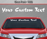 "Choc Font #1022 - Custom Personalized Your Text Letters Windshield Window Vinyl Sticker Decal Graphic Banner 36""x4.25""+"