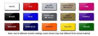 Sticky Creations - Color Swatch