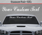 "Comm Script Font #1079 - Custom Personalized Your Text Letters Windshield Window Vinyl Sticker Decal Graphic Banner 36""x4.25""+"