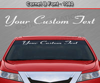 "Cornet B Font #1080 - Custom Personalized Your Text Letters Windshield Window Vinyl Sticker Decal Graphic Banner 36""x4.25""+"