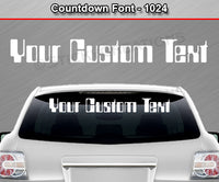 "Countdown Font #1024 - Custom Personalized Your Text Letters Windshield Window Vinyl Sticker Decal Graphic Banner 36""x4.25""+"