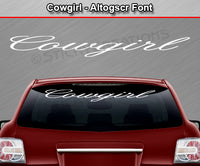 "Cowgirl - Altogscr Font - Windshield Window Vinyl Sticker Decal Graphic Banner Text Letters 36""x4.25""+"