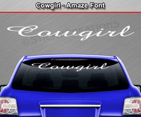 "Cowgirl - Amaze Font - Windshield Window Vinyl Sticker Decal Graphic Banner Text Letters 36""x4.25""+"