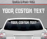 "Davids B Font #1026 - Custom Personalized Your Text Letters Windshield Window Vinyl Sticker Decal Graphic Banner 36""x4.25""+"