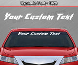 "Dynamic Font #1029 - Custom Personalized Your Text Letters Windshield Window Vinyl Sticker Decal Graphic Banner 36""x4.25""+"