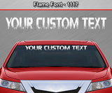 "Flame Font #1117 - Custom Personalized Your Text Letters Windshield Window Vinyl Sticker Decal Graphic Banner 36""x4.25""+"