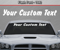 "Flash Font #1082 - Custom Personalized Your Text Letters Windshield Window Vinyl Sticker Decal Graphic Banner 36""x4.25""+"