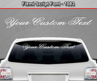"Flemi Script Font #1083 - Custom Personalized Your Text Letters Windshield Window Vinyl Sticker Decal Graphic Banner 36""x4.25""+"