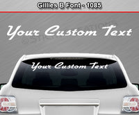 "Gillies B Font #1085 - Custom Personalized Your Text Letters Windshield Window Vinyl Sticker Decal Graphic Banner 36""x4.25""+"