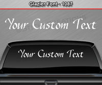 "Glazier Font #1087 - Custom Personalized Your Text Letters Windshield Window Vinyl Sticker Decal Graphic Banner 36""x4.25""+"