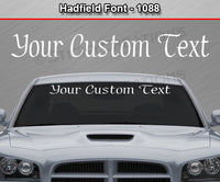 "Hadfield Font #1088 - Custom Personalized Your Text Letters Windshield Window Vinyl Sticker Decal Graphic Banner 36""x4.25""+"