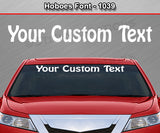 "Hoboes Font #1039 - Custom Personalized Your Text Letters Windshield Window Vinyl Sticker Decal Graphic Banner 36""x4.25""+"