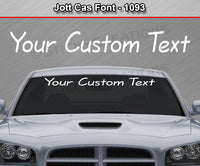 "Jott Cas Font #1093 - Custom Personalized Your Text Letters Windshield Window Vinyl Sticker Decal Graphic Banner 36""x4.25""+"