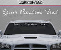 "Kauf Font #1095 - Custom Personalized Your Text Letters Windshield Window Vinyl Sticker Decal Graphic Banner 36""x4.25""+"