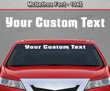 "McBethos Font #1045 - Custom Personalized Your Text Letters Windshield Window Vinyl Sticker Decal Graphic Banner 36""x4.25""+"