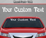 "Moonl Font #1046 - Custom Personalized Your Text Letters Windshield Window Vinyl Sticker Decal Graphic Banner 36""x4.25""+"