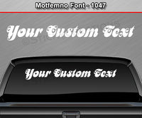 "Motfemno Font #1047 - Custom Personalized Your Text Letters Windshield Window Vinyl Sticker Decal Graphic Banner 36""x4.25""+"