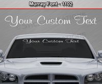 "Murray Font #1102 - Custom Personalized Your Text Letters Windshield Window Vinyl Sticker Decal Graphic Banner 36""x4.25""+"