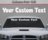 "Novelgot Font #1149 - Custom Personalized Your Text Letters Windshield Window Vinyl Sticker Decal Graphic Banner 36""x4.25""+"
