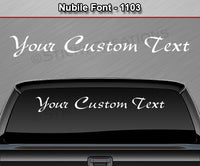 "Nubile Font #1103 - Custom Personalized Your Text Letters Windshield Window Vinyl Sticker Decal Graphic Banner 36""x4.25""+"