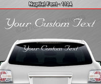 "Nuptial Font #1104 - Custom Personalized Your Text Letters Windshield Window Vinyl Sticker Decal Graphic Banner 36""x4.25""+"
