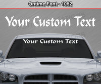 "Ontime Font #1052 - Custom Personalized Your Text Letters Windshield Window Vinyl Sticker Decal Graphic Banner 36""x4.25""+"