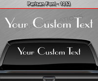 "Parisan Font #1053 - Custom Personalized Your Text Letters Windshield Window Vinyl Sticker Decal Graphic Banner 36""x4.25""+"