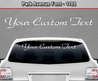 "Park Avenue Font #1105 - Custom Personalized Your Text Letters Windshield Window Vinyl Sticker Decal Graphic Banner 36""x4.25""+"