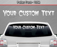 "Polter Font #1056 - Custom Personalized Your Text Letters Windshield Window Vinyl Sticker Decal Graphic Banner 36""x4.25""+"