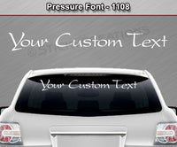 "Pressure Font #1108 - Custom Personalized Your Text Letters Windshield Window Vinyl Sticker Decal Graphic Banner 36""x4.25""+"