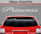 "Princess - Altogscr Font - Windshield Window Vinyl Sticker Decal Graphic Banner Text Letters 36""x4.25""+"