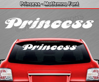 "Princess - Motfemno Font - Windshield Window Vinyl Sticker Decal Graphic Banner Text Letters 36""x4.25""+"
