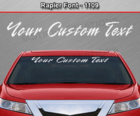 "Rapier Font #1109 - Custom Personalized Your Text Letters Windshield Window Vinyl Sticker Decal Graphic Banner 36""x4.25""+"