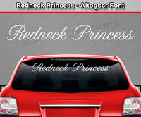 "Redneck Princess - Altogscr Font - Windshield Window Vinyl Sticker Decal Graphic Banner Text Letters 36""x4.25""+"
