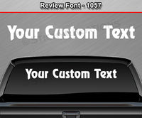 "Review Font #1057 - Custom Personalized Your Text Letters Windshield Window Vinyl Sticker Decal Graphic Banner 36""x4.25""+"