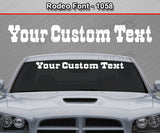 "Rodeo Font #1058 - Custom Personalized Your Text Letters Windshield Window Vinyl Sticker Decal Graphic Banner 36""x4.25""+"