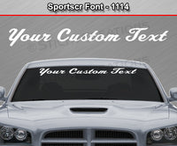 "Sportscr Font #1114 - Custom Personalized Your Text Letters Windshield Window Vinyl Sticker Decal Graphic Banner 36""x4.25""+"