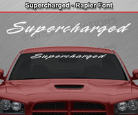 "Supercharged - Rapier Font - Windshield Window Vinyl Sticker Decal Graphic Banner Text Letters 36""x4.25""+"