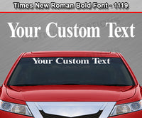 "Times New Roman Bold Font #1119 - Custom Personalized Your Text Letters Windshield Window Vinyl Sticker Decal Graphic Banner 36""x4.25""+"